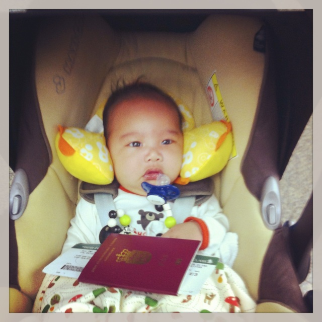 Baby E's very first trip at two months - destination Bali.